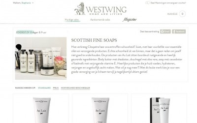Copywriting voor shopping club Westwing