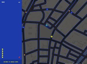 1 april grap: PacMan spelen met Google Maps