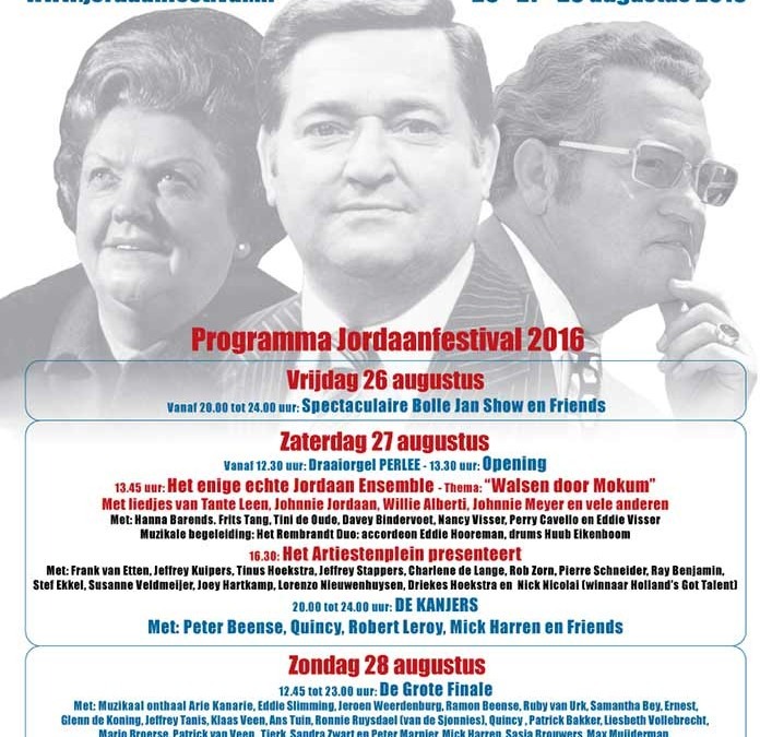 Minturn op poster Jordaan Festival 2016!