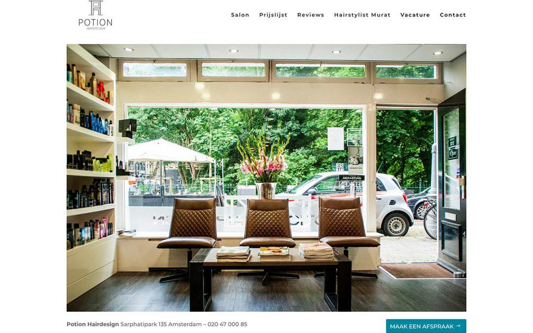 Nieuwe website voor Kapper in Amsterdam