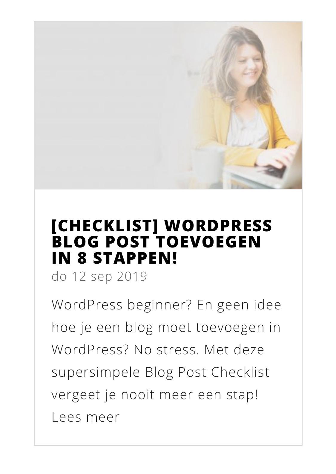 Uitgelichte foto toevoegen in WordPress